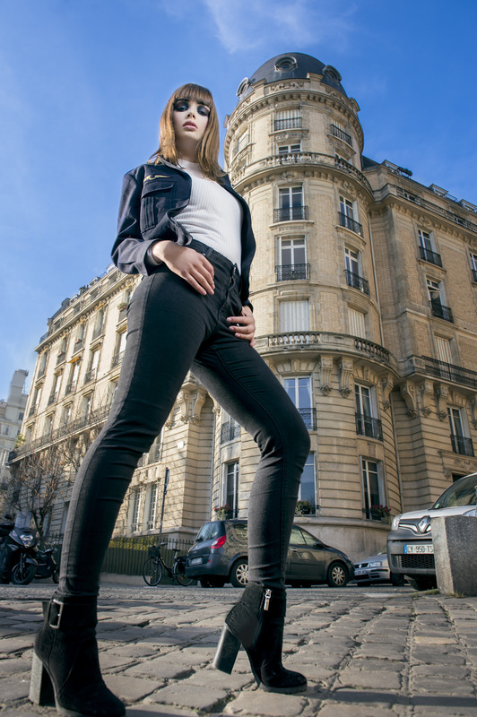 Louise-Eugénie Broquet - Model 2 : Marie Bomber: Air Force Pull: Burton of London Pant: Zara Ankle boots: Bershka