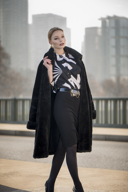 Louise-Eugénie Broquet - Model 1 (Cassandre) Coat: C&A Blouse: Weill Skirt: American Apparel Heels: Pierre Cardin