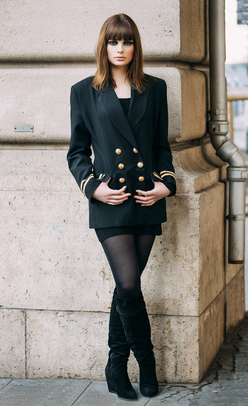 Louise-Eugénie Broquet - Model 2 (Marie) Jacket: French national navy Dress: Morgan Boots: Texto