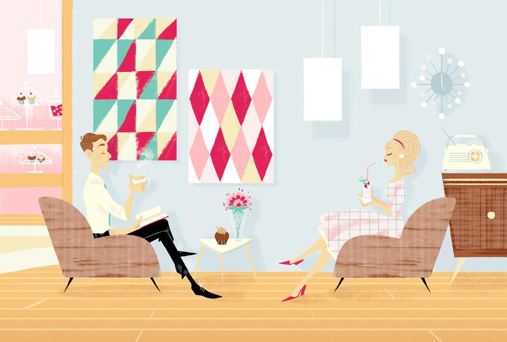 Sibylline Meynet Art - 2014 • Pour le livre de recettes My Lovely Cakes aux Edtions de La Martinière