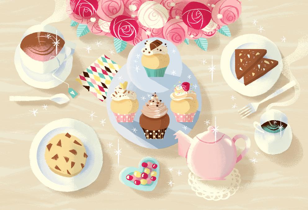 Sibylline Meynet Art - 2014 • Pour le livre de recettes My Lovely Cakes aux Edtions de La Martinière • 2014