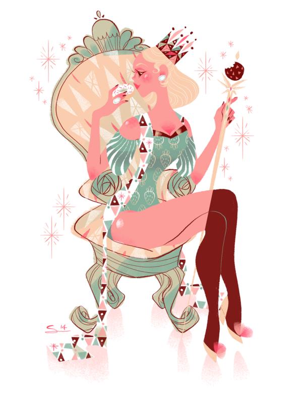 Sibylline Meynet Art - 2014 • Pour le livre de recettes Les Glamourdises