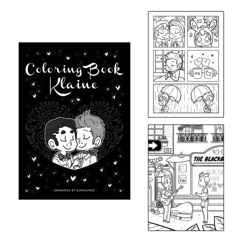 Sunshunes - Coloring Book - Klaine (2017)