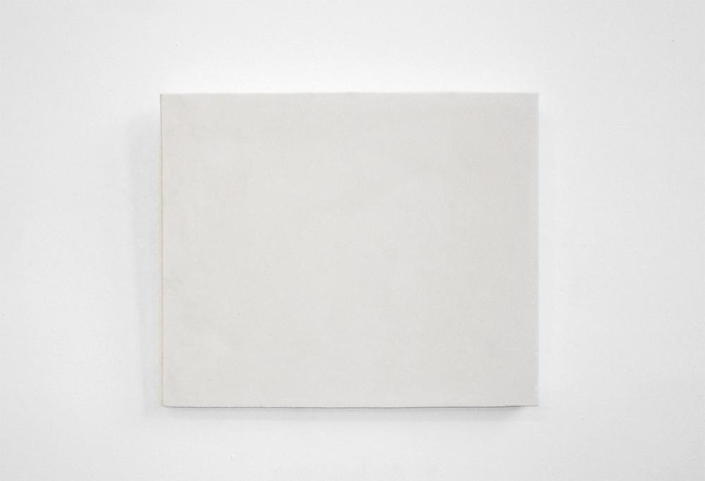 Sven Fritz - Blanc canvas sculpture 42 x 29 cm solid plaster