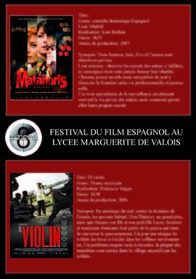JD - Festival du film espagnol au lycée Marguerite de Valois Angoulême