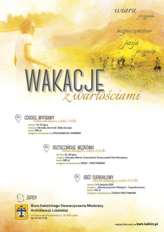 Moczydlowski projects - Wakacje z wartościami KSM