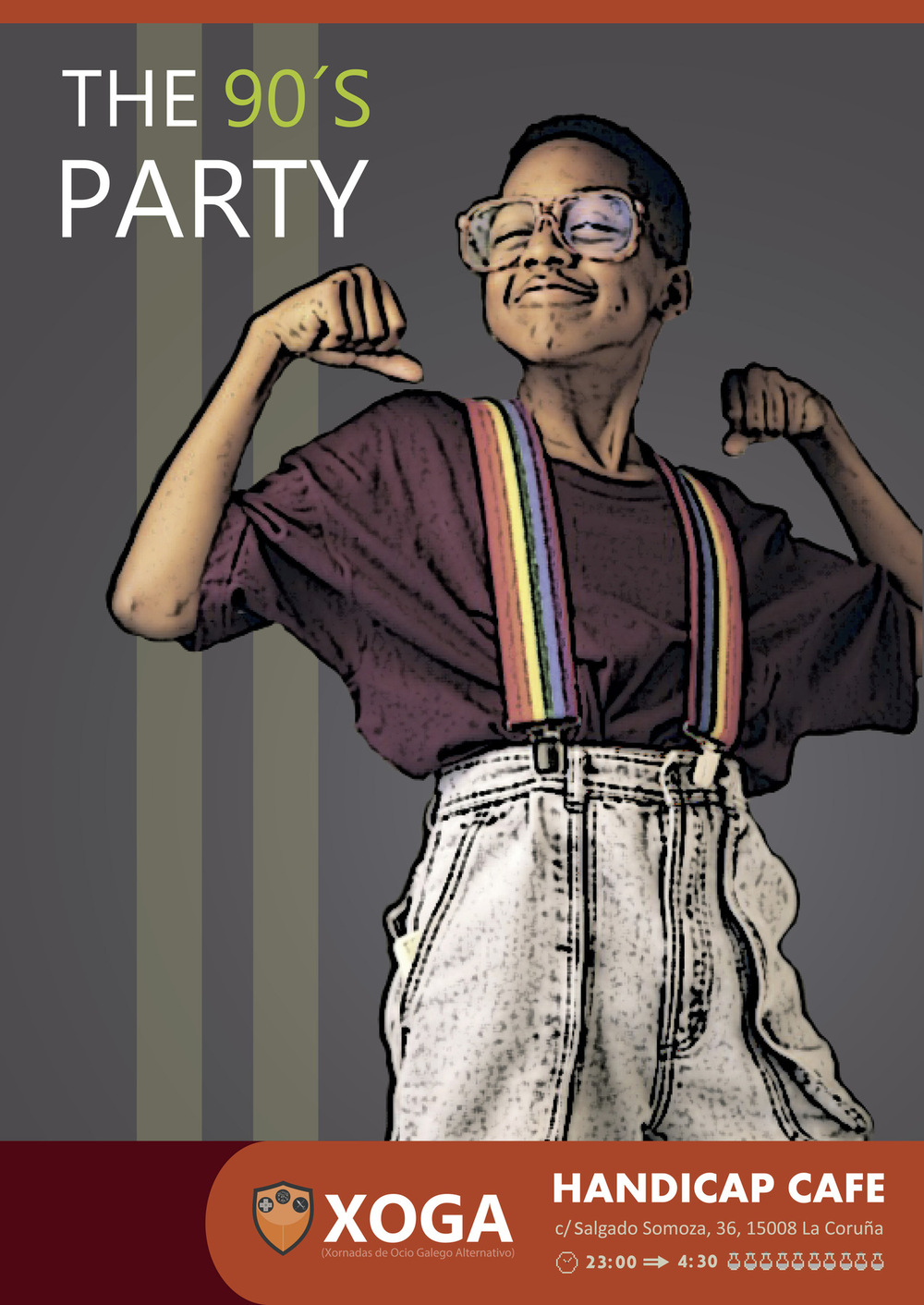 MausoLeiro - Cartel fiesta de los 90