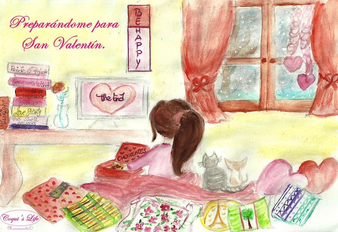 Moramonttis Illustrations - Preparándome para San Valentín!