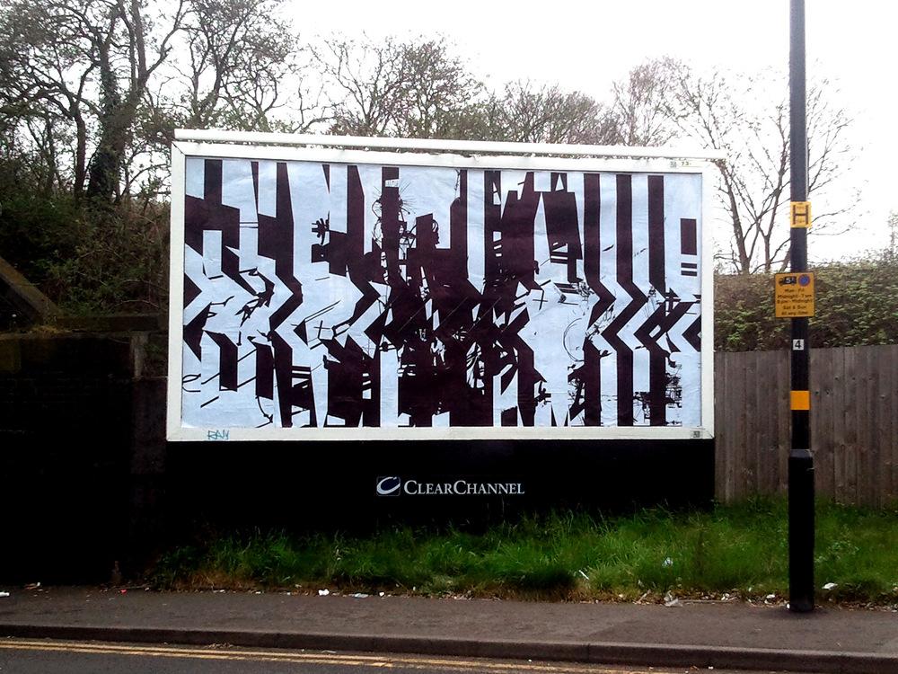 Tom Tebby Visual Artist - Untitled 48 sheet billboard, Birmingham