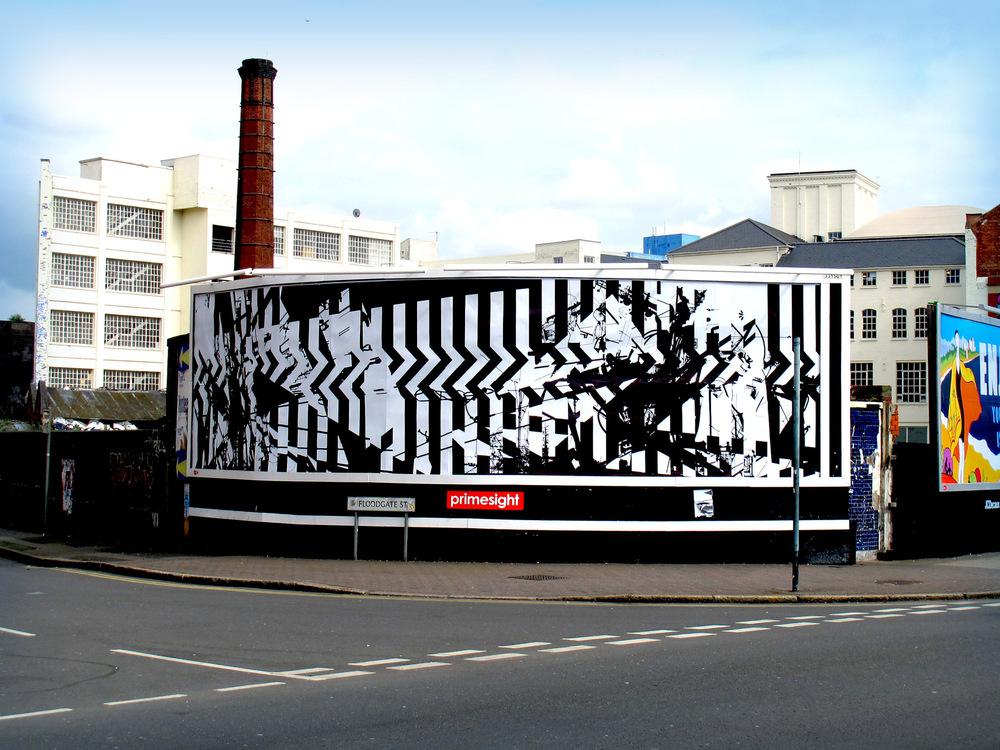Tom Tebby Visual Artist - 48 Sheet Project 96 sheet billboard, Birmingham. 12x3metres. Digital print
