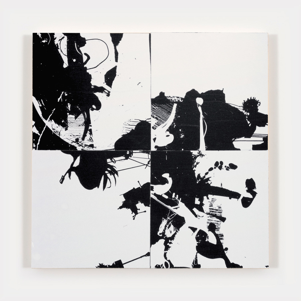 Tom Tebby Visual Artist - UntitledPhotocopy on 4 wooden panels - interchangeable