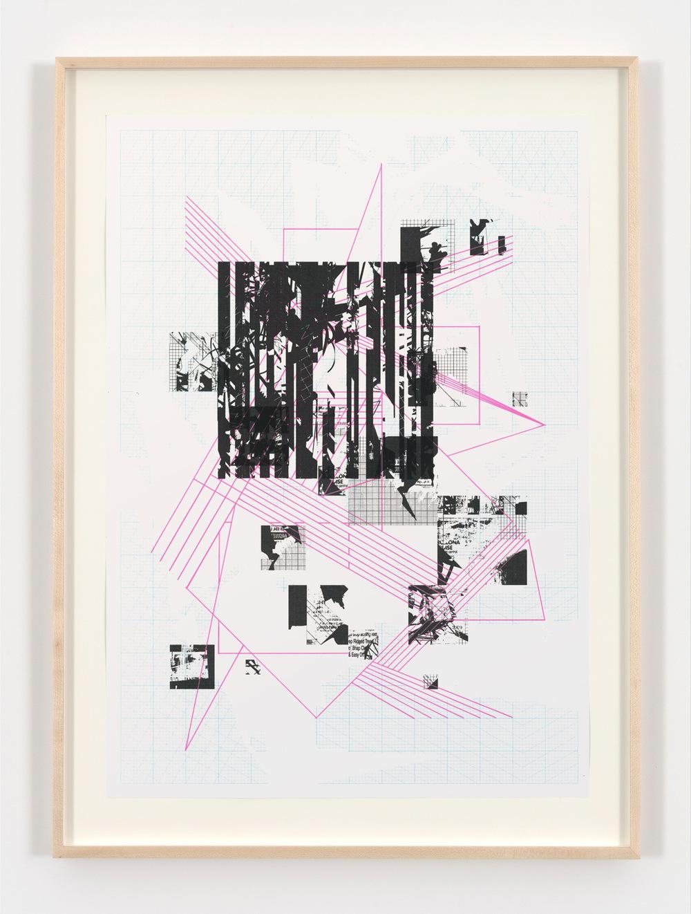 Tom Tebby Visual Artist - UntitledPosca pen, digital print on custom made graph paper