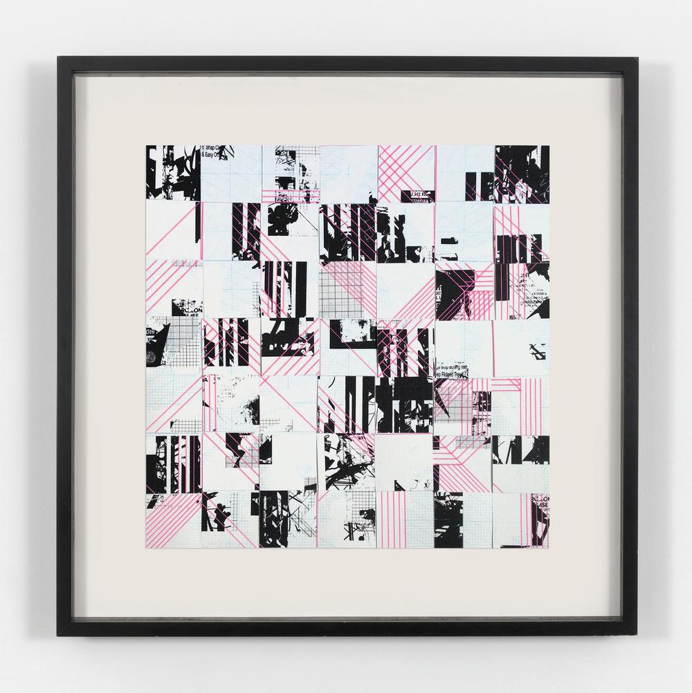 Tom Tebby Visual Artist - UntitledPosca pen, digital print on custom made graph paper/ grey board