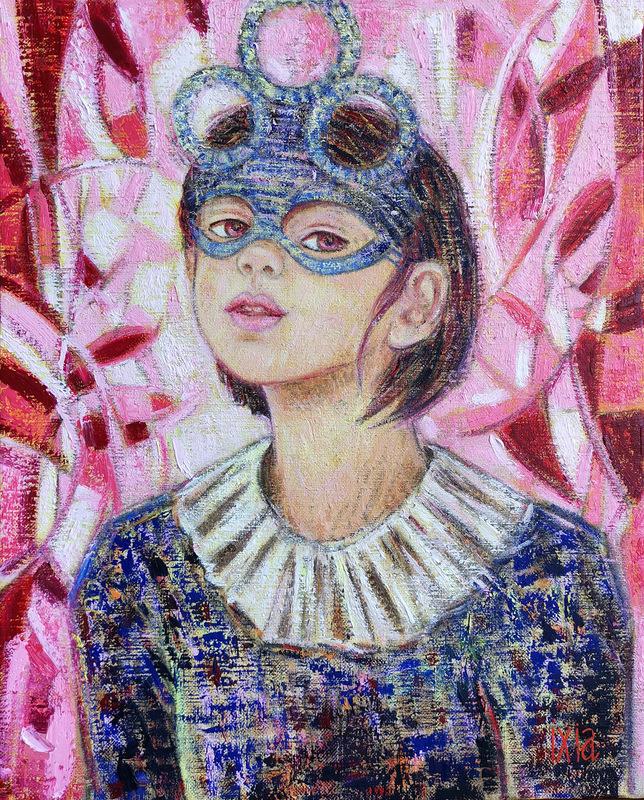 IXIA Artiste - Argine ou Cueillir la chance 33 x 41 cm HST