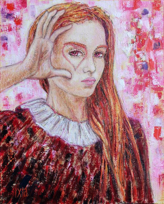 IXIA Artiste - Judith ou Viser le coeur 33 x 41 cm HST