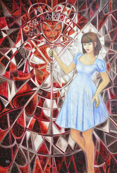 IXIA Artiste - Alice, regina ex machina Peinture à lhuile sur toile 89 x 130 cm 2011