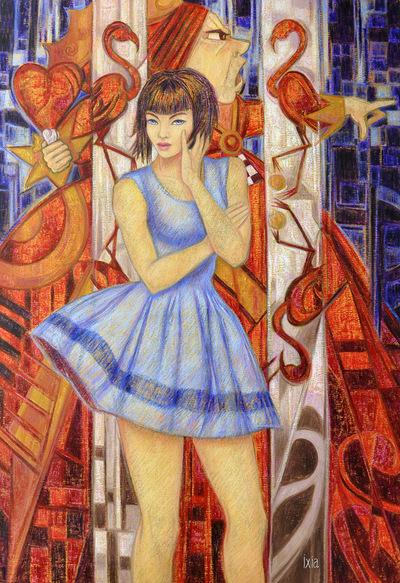 IXIA Artiste - Alice, et la Reine de Coeur Peinture à lhuile sur toile 89 x 130 cm 2011