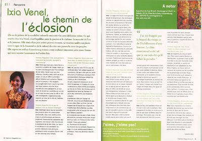 IXIA Artiste - Exposition personnelle Beauté des femmes dOrient Femme Magazine, Luxembourg 2006
