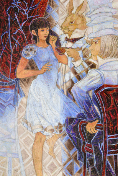 IXIA Artiste - Alice, au théâtre des merveilles Peinture à lhuile sur toile 89 x 130 cm 2011