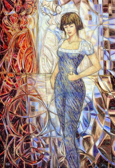 IXIA Artiste - Alice, de lautre côté du miroir Peinture à lhuile sur toile 89 x 130 cm SOLD / VENDU NOT AVAILABLE / NON DISPONIBLE Collection particulière, Paris 2011