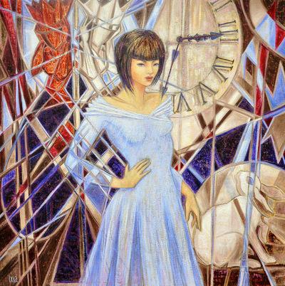 IXIA Artiste - Alice, la remontée du temps Peinture à lhuile sur toile 100 x 100 cm 2011