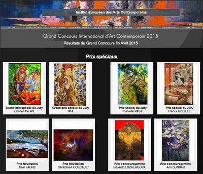 IXIA Artiste - Grand prix spécial du Jury au Grand concours international dart contemporain 2015 avec Dao de Sapa aux chevaux bleus, 54 x 73 cm, peinture à lhuile sur toile - http://institutdesarts.eu/