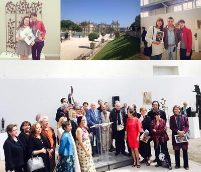 IXIA Artiste - Conférence de presse à lOrangerie du Sénat, Jardin du Luxembourg, 9 juin 2015