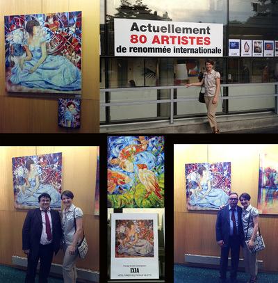 IXIA Artiste - 63e Salon Violet Vernissage en présence de Philippe Chauvin (Directeur de la communication du Sénat) et Michel Mothais (Directeur régional LCL)