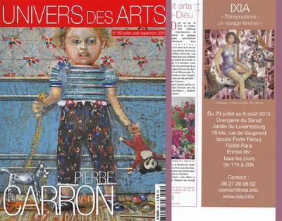 IXIA Artiste - Parution dans le Univers des Arts Juillet/Août/Septembre 2015 Page 20