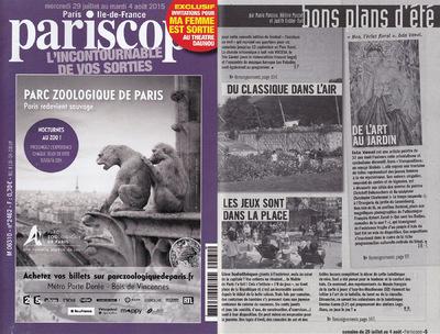 IXIA Artiste - Parution dans le Pariscope Semaine du 29 juillet au 4 août 2015 Page 5