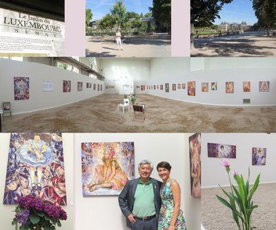 IXIA Artiste - Transpositions : un voyage féminin Exposition de peintures Orangerie du Sénat, Jardin du Luxembourg Juillet - août 2015
