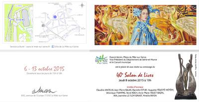IXIA Artiste - Invitée dhonneur au 40e Salon de Lives du Mée-sur-Seine (77) Octobre 2015