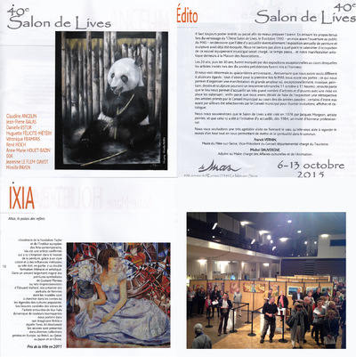 IXIA Artiste - 40e Salon de Lives du Mée-sur-Seine (77) Catalogue