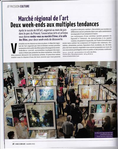 IXIA Artiste - Journal de la ville de Conflans-Ste-Honorine, 78 Novembre 2015