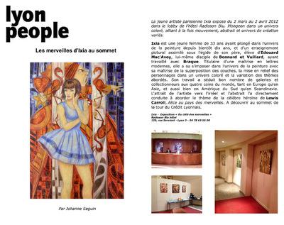 IXIA Artiste - Exposition personnelle Du côté des merveilles au Radisson Blu Hotel Lyon people 2012