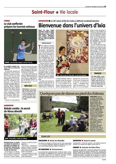 IXIA Artiste - Invitée dhonneur au 36e Salon dété de Saint-Flour La Montagne, France 2013