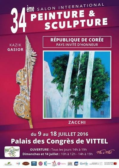 IXIA Artiste - 34e Salon de Vittel Invités dhonneur : Zacchi (peinture) et Gasior (sculpture) Juillet 2016