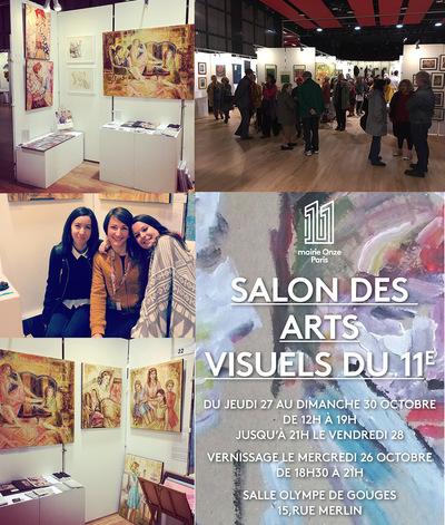 IXIA Artiste - IXIA participe à la deuxième édition du Salon des arts visuels du 11e Paris Octobre 2016