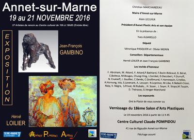 IXIA Artiste - Salon dautomne dAnnet-sur-Marne (77) Invités dhonneur : Loilier et Gambino. Novembre 2016