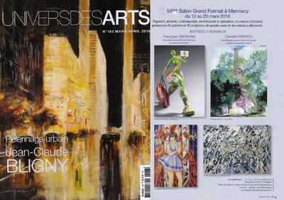 IXIA Artiste - Parution dans le Univers des Arts Mars/Avril 2016 Page 79