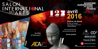 IXIA Artiste - Salon international des arts Académie européenne des arts France Paris 6e Avril 2016 http://www.aeaf.fr/