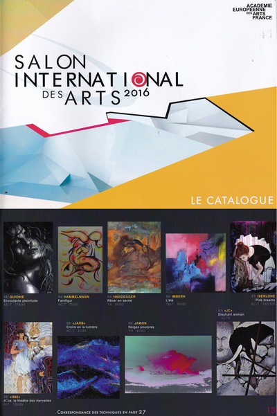 IXIA Artiste - Salon international des arts Académie européenne des arts France Paris 6e Catalogue Avril 2016 http://www.aeaf.fr/