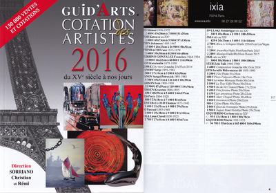 IXIA Artiste - GuidArts Dictionnaire Cotation des artistes 2016 http://ixia.guidarts.com/