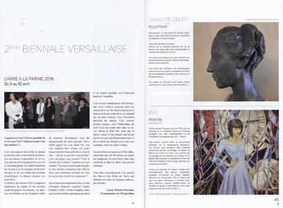 IXIA Artiste - 2e Biennale Versaillaise, 78 Catalogue Avril 2016 http://biennale-versaillaise.fr/