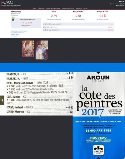 IXIA Artiste - I-CAC Indice de Cotation des Artistes Certifiés http://www.i-cac.fr/ Akoun 2017 http://www.akoun.com/