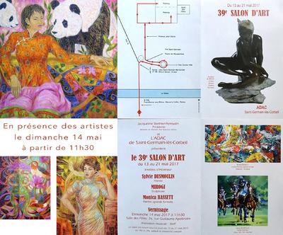 IXIA Artiste - 39e Salon de lADAC de Saint-Germain-lès-Corbeil (91) Salle des Fêtes Du 13 au 21 mai 2017 Invités dhonneur : Desmoulin et Bassett (peinture), Mirogi (sculpture)