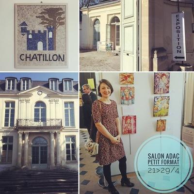 IXIA Artiste - 3e Salon Petit Format de lADAC Châtillon Jour de vernissage, le 21 avril 2017
