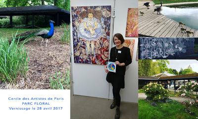 IXIA Artiste - Cercle des artistes de Paris Parc floral Jour de vernissage, le 28 avril 2017