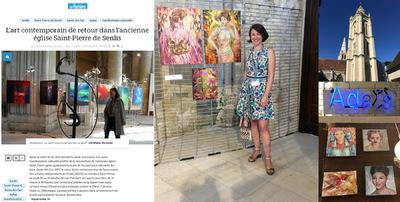 IXIA Artiste - Le Parisien annonce lévénement ! Vernissage en présence de nombreux artistes, élus et visiteurs. Mes petits formats ont notamment ceux de la très sympathique Céline Achour pour voisins :-) Senlis Art Fair 2017 Du 25 au 28 mai Oise, 60
