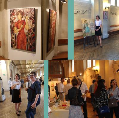 IXIA Artiste - Au Bonheur des Rêves Université Panthéon-Sorbonne Paris I Jour de vernissage 8 Juin 2017